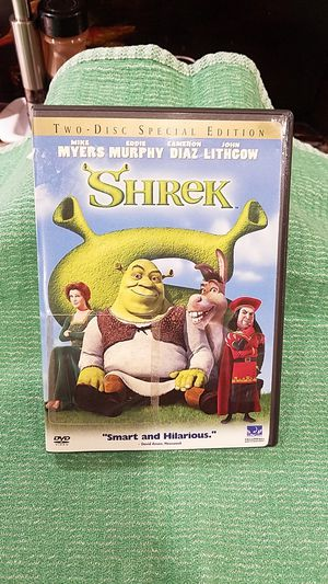"""DVD. SHREK - TWO DISC DVD. """"NEW """" OPEN BUT NEVER USED. for Sale in Upland, CA"""