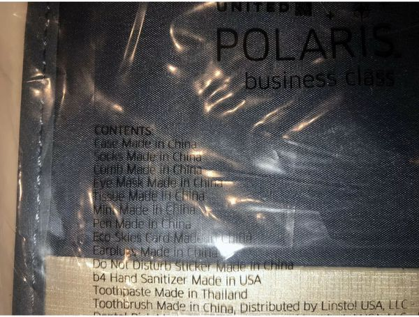 NEW United Airlines Polaris Business Class Amenity Kit Travel