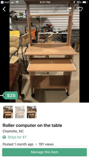 Roller computer deck for Sale in Charlotte, NC