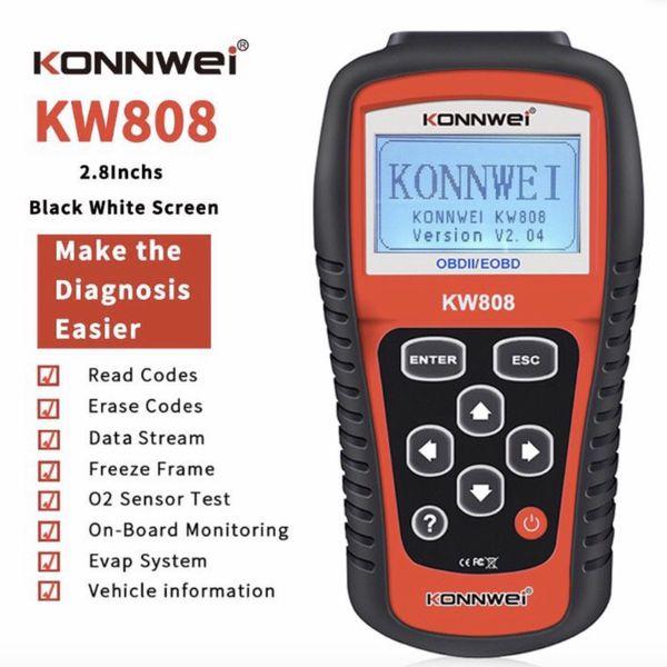 KONNWEI KW808 maxi scan OBDII obd2 Auto Code Reader Work for US, Asian & European Cars KONNWEI KW808 Code Scanner Audi, Benz, BMW, Buick, Chevrolet, F