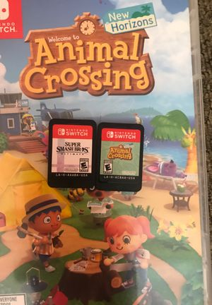 Nintendo switch games: Animal crossing new horizons, super smash bro's ultimate for Sale in Hialeah, FL