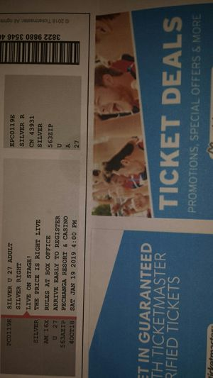 Price is Right Live tickets for Sale in Poway, CA
