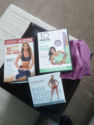 Exercise DVD's with Pilates Band included. for Sale in BVL, FL
