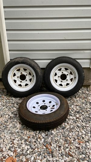 Load Star Trailer Wheels and Tires - 1 new & 2 used for Sale in Chesapeake, VA