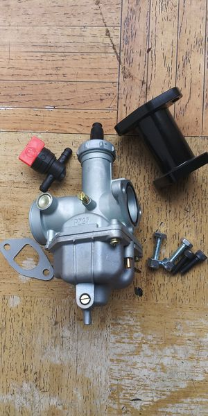 Go Kart / MiniBike / Mini Bike / Go Cart / Dirt Bike (( JETTED)) PZ27 Carburetor , Manifold With Gasket & Hardware for Sale in Los Angeles, CA