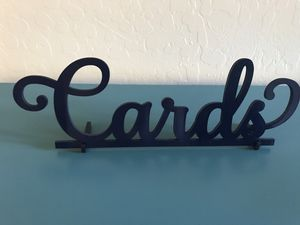 Wooden Cards Sign for Wedding for Sale in Scottsdale, AZ