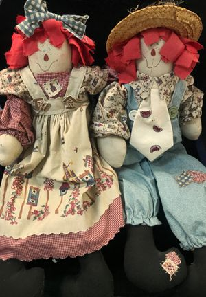Raggedy Ann and Andy country style for Sale in Las Vegas, NV