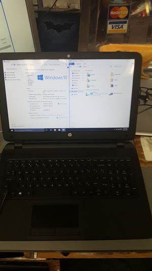 Hp 15 laptop notebook computer win 10 intel celeron 8gb ram 160gb hdd for Sale in Baltimore, MD