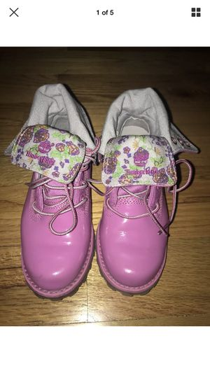Timberland Boots Pink Girl's size 12 for Sale in Snellville, GA