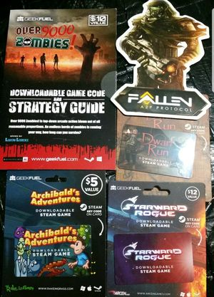 STEAM Game Lot of 5, Fallen, Dwarf Run, 9000 Zombies, Adventure & more $56 Value GEEK FUEL EXCLUSIVES! for Sale in Wareham, MA