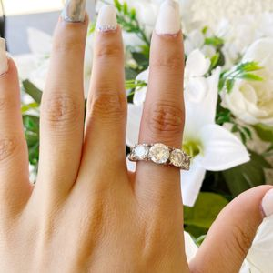 White gold plated cubic Zirconia Ring for Sale in Norwalk, CA