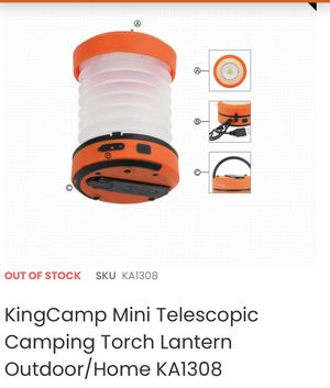 Camping torch lantern outdoors/indoor mini telescopic camping, hiking lantern- brand new for Sale in Ontario, CA