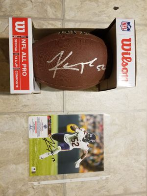 Khalil Mack Signed Football and Picture for Sale in Pawtucket, RI