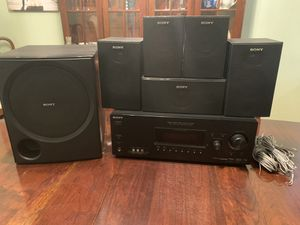 Sony Home Theater System - STR K7100 5.1 Channel Digital AV Receiver + 5 speakers + sub for Sale in Windermere, FL
