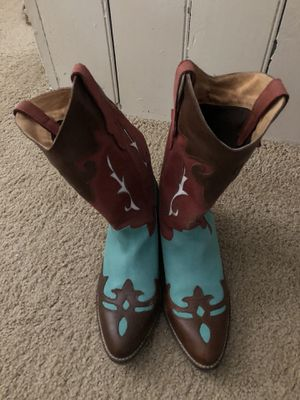 Diego Lucca Cowboy Boots Size 8M suede and leather for Sale in Pittsburgh, PA