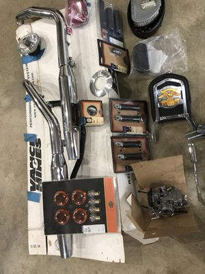 Harley dyna wide glide stock parts for Sale in Durham, NC