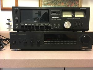 Stereo receiver and stereo cassette deck for Sale in Denver, CO