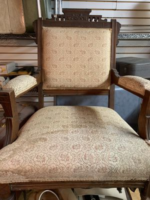 Antique Eastlake Chair with Wheels for Sale in Bell, CA