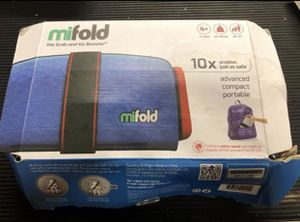 Mifold Grab-and-Go Car Booster Seat Denim Blue for Sale in Beaverton, OR