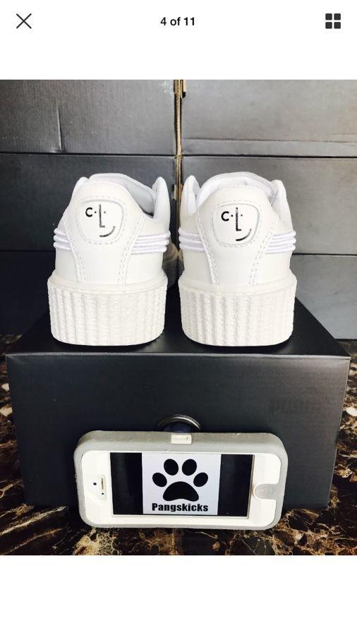 online retailer 7ac0f 5d3ea Puma Fenty by Rihanna Clara Lionel Creeper White 366403-01 Women's Size  8.5-10 for Sale in Tempe, AZ - OfferUp