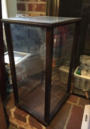 "Cherry Display Case small Acrylic glass wood. 10""x12""x18"" approx. for Sale in Alexandria, VA"