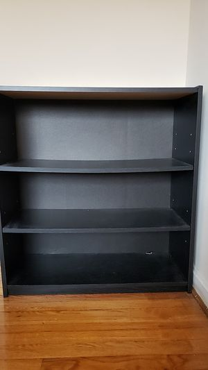 Black 3-Shelf Bookcase Mainstays for Sale in Bethesda, MD