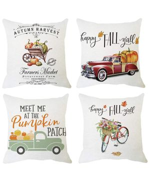 Fall pumpkin harvest decor pillow covers for Sale in New York, NY
