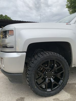 "Brand New 22"" Black Chevy / GMC Rims and New Tires 22 Chevrolet GM Honey Comb Wheels 22s Rines y Llantas Take offs off takeoffs pull truck SUV troka for Sale in Dallas, TX"