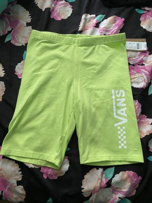 Lime Green Vans Bike Shorts for Sale in San Antonio, TX