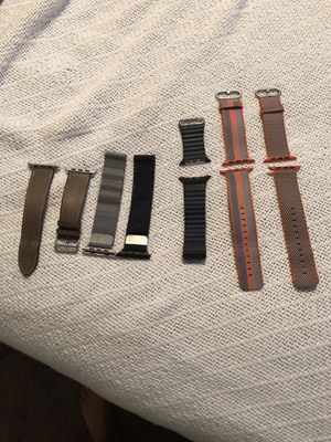 Apple Watch series 3, 42mm bands for sale. (Fits series 1 and 2 as well) Pricing is varied. Inquire for more details. for Sale in Nashville, TN