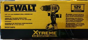 "Dewalt 3/8 "" Hammer Drill / Driver kit, brand new in the unopened box. Model # is DCD706F2 for Sale in Boise, ID"