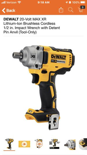 DEWALT 20-Volt MAX XR Lithium-Ion Brushless Cordless 1/2 in. Impact Wrench with Detent Pin Anvil (Tool-Only) for Sale in Highland, CA