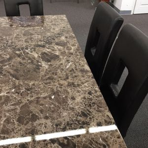 Faux Marble Dining Set Brand New (delivery available ) for Sale in Anaheim, CA