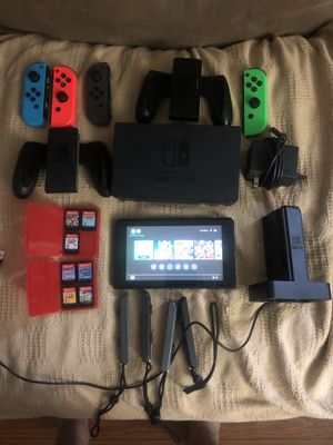 Switch with 8 games and all accessories for Sale in Douglasville, GA