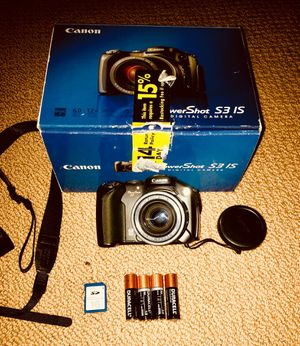 CANON PowerShot S3 IS Digital Camera for Sale in Sammamish, WA
