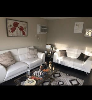 White leather couches 6 seats for Sale in Des Plaines, IL