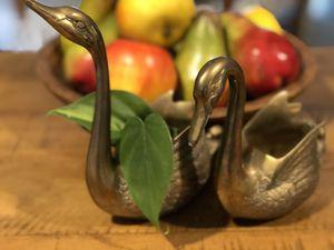 Brass swan planters for Sale in Virginia Beach, VA