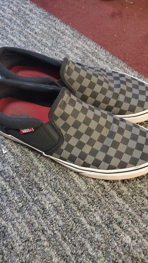 Van's slip on black checkered size 11.5 for Sale in Greenville, SC