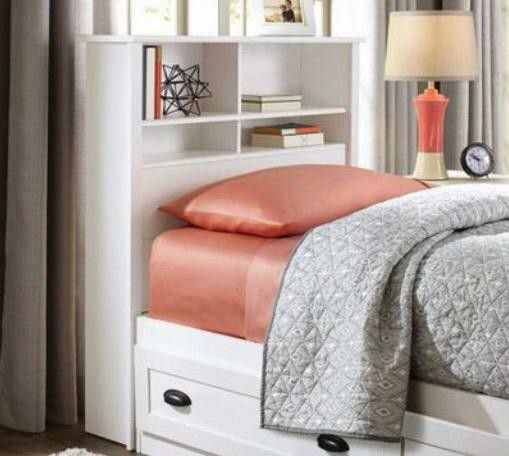 White twin bookcase headboard only