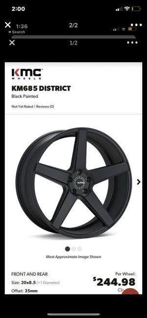 Black 22 rims tires for Sale in Orlando, FL