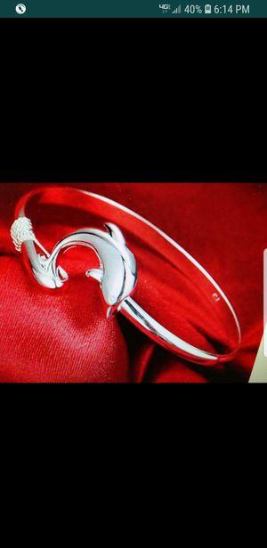 925 silver dolphin bracelet for Sale in Farmville, VA