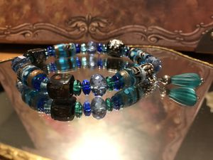 Pretty! Turquoise & Blue Beaded Stretch Bracelet for Sale in Gainesville, VA