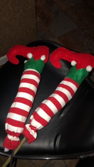 Elf legs home made for Christmas decor for Sale in Houston, TX