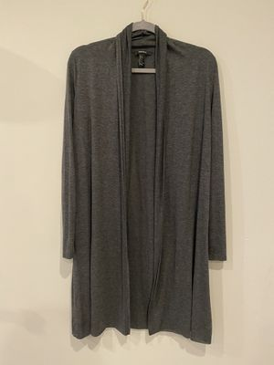 Forever 21 long grey thin cardigan for Sale in Aspen Hill, MD