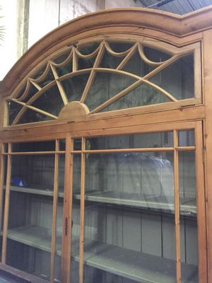 Antique Pine Glass front cabinet for Sale in Maitland, FL