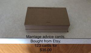 Marriage advice cards for Sale in Pekin, IL