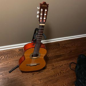 Hanes Guitar With Stand And Carry Bag for Sale in Buford, GA