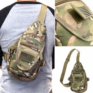 Brand NEW! Small compact Camouflage Tactical Military Style Sling Side Crossbody Bag gym bag work chest bag travel camping hiking biking Gray bag for Sale in Carson, CA