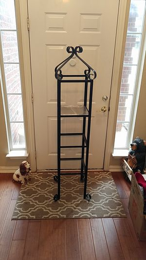Decorative metal shelf display stand for Sale in Arlington, TX