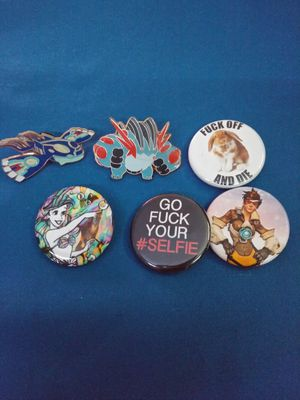 Buttons/pins Disney, pokemon, overwatch. for Sale in View Park-Windsor Hills, CA